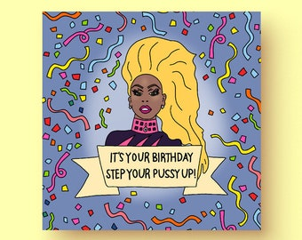 Rupaul Birthday Card
