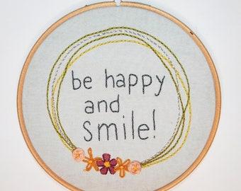 "Smile 6"" Embroidery Hoop"