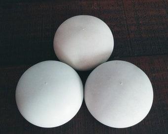 "Set of 3 Medium Dome Shape 3.75""Wx1.75""H Blank Mandala Handmade Smooth Stones for Painting Dot Art Gift Shower Boho Decor Design Office"
