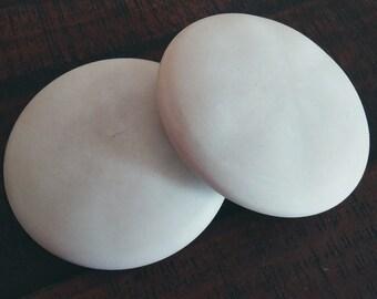 """Set of 2 Large 4.5"""" Blank Mandala Handmade Smooth Stones for Painting Dot Art Gift Shower Boho Decor Design Office"""