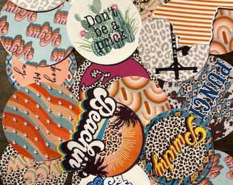 Grab Bag, Multi-pack, Custom Car Freshie Cardstock, Freshie Supplies, Cardstock cutouts, wholesale freshie embellishments