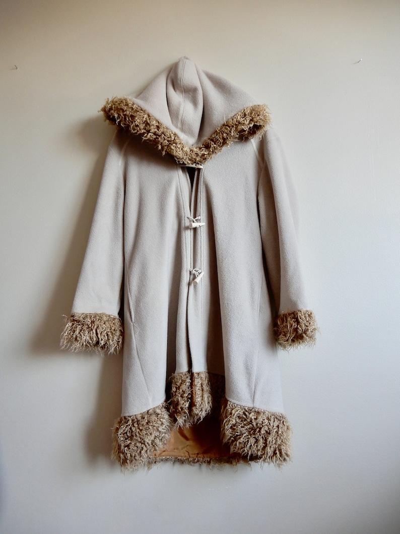 039dbd6d224 Vintage Penny Lane Faux Fur Hooded Fleece Jacket