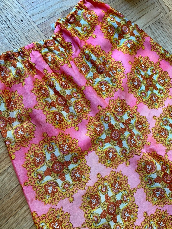 60s/70s Psychedelic Pink Palazzo Pants - image 3