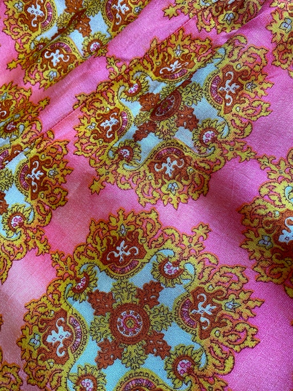 60s/70s Psychedelic Pink Palazzo Pants - image 4