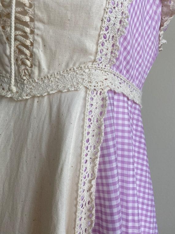 1970s Purple Gingham Gunne Sax Sundress Size 5 - image 9