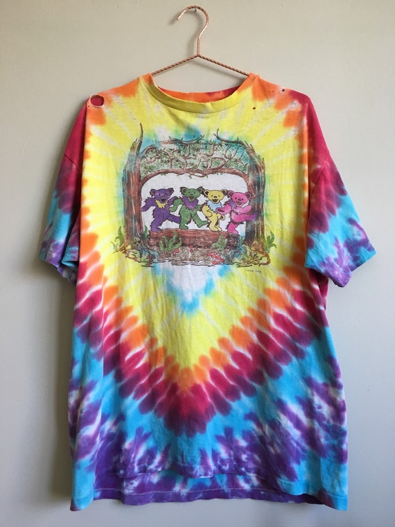 a87be337c20 1990 Grateful Dead 25th Anniversary T Shirt • Vintage • Tie Dye • Band Tee  • Collectible • Rainbow • Hippie • 1960s • Deadhead • Psychedelic