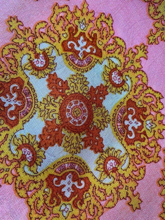 60s/70s Psychedelic Pink Palazzo Pants - image 7