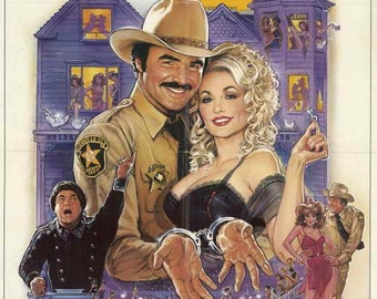 afbeac31241 The Best Little Whorehouse in Texas (1982) movie poster 11 x 17 Burt  Reynolds comedy musical Dolly Parton brothel Dom DeLuise TV reporter