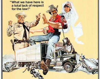 82ca1b013cf Smokey and the Bandit (1977) 11 x 17 movie poster Burt Reynolds Sally Field  Jackie Gleason car chase Jerry Reed Pontiac Firebird Trans Am