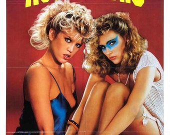 Female Aggressors (1986) 11 x 17 movie poster Amber Lynn adult film comedy  Nina Hartley hardcore porn Nikki Randall sorority girls wrestling