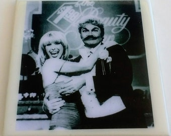 30244fce2d8 The 1.98 Beauty Show coaster pageant game show parody Rip Taylor host  famous moustache confetti showers Chuck Barris creator The Gong Show