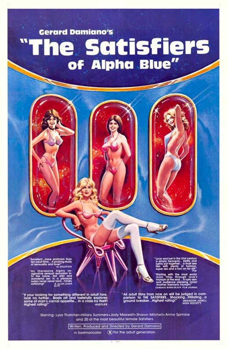 Alpha Blue Movie the satisfiers of alpha blue (1981) 11 x 17 movie poster lysa thatcher  adult film robert kerman hardcore porn sharon mitchell annie sprinkle