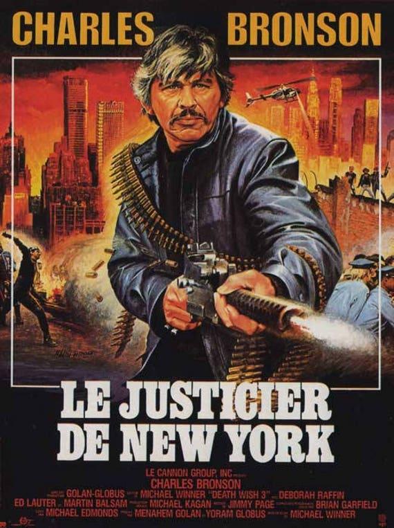 Charles Defense Wish Self Films Street X Movie Cannon Globus One 17 Army Bronson Golan Man Vigilante Gangs 3198511 Poster Death French QxdCrBths