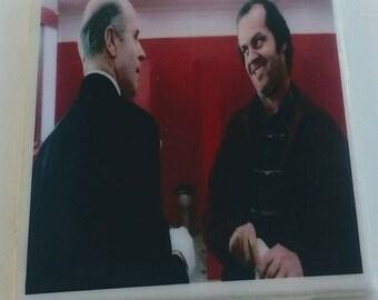 "The Shining coaster ""You've always been the caretaker"" Delbert Grady & Jack Torrance haunted hotel Philip Stone Jack Nicholson Stephen King"