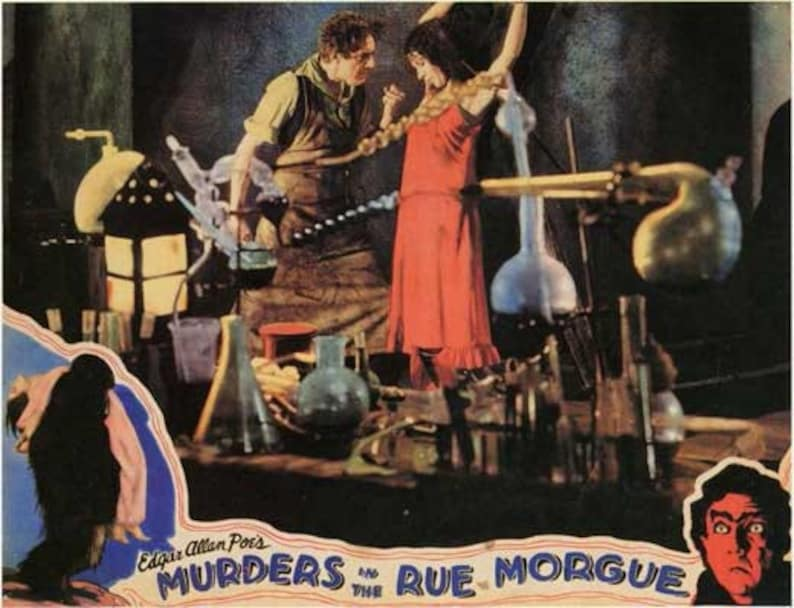 MURDERS IN THE RUE MORGUE MOVIE POSTER Rare Vintage 1