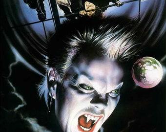 The Lost Boys (1987) movie poster 11 x 17 Jason Patric horror comedy Corey Haim vampires Kiefer Sutherland beach town boardwalk Jami Gertz