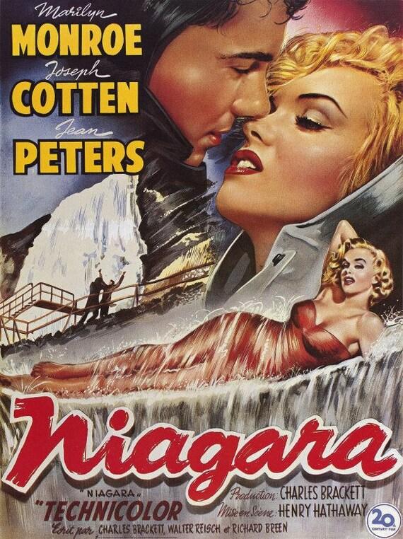 Niagara 1953 Movie Poster 11 X 17 Marilyn Monroe Joseph