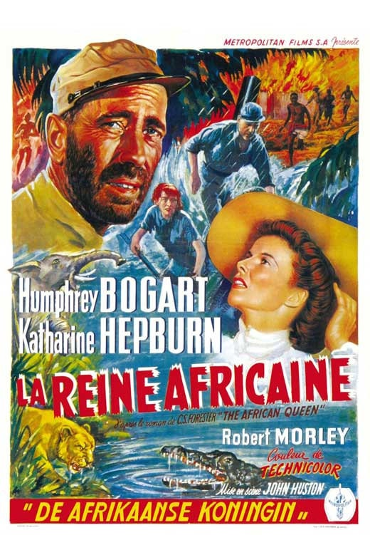 Humphrey Bogart Belgian Vintage Film poster reproduction. Casablanca
