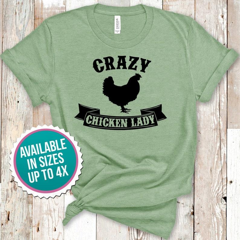 9c36cf32c Crazy Chicken Lady Shirt Funny Chicken Shirt Chicken Lovers   Etsy