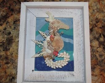 SEAHORSE Mosaic. Fancy Shells.