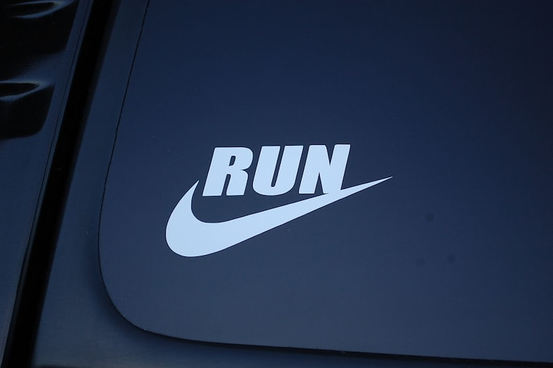 13.1 Girl Runner Run Running Die Cut Vinyl Sticker Decal Pick Color /& Size V2