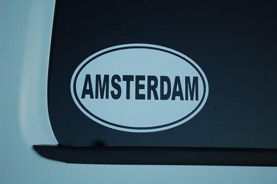 "Panama Euro Flag Oval car window bumper sticker decal 5/"" x 3/"""