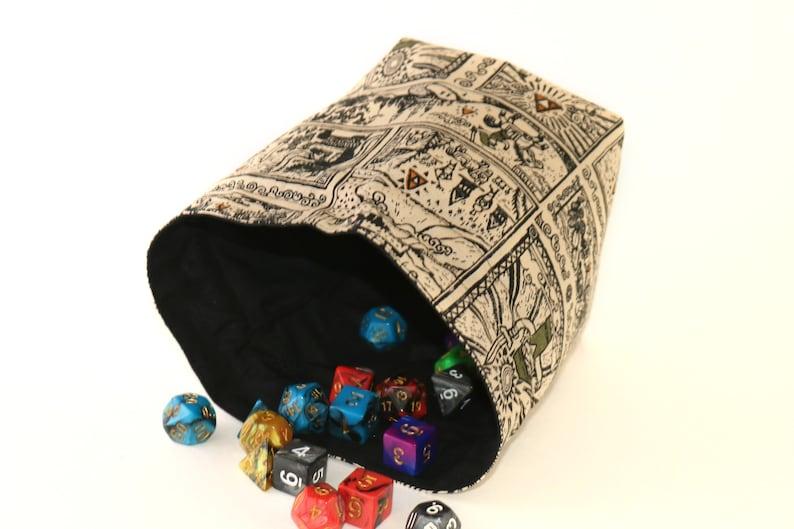 Bag of Holding /& Small Dice Bag Gift Set Legend of Zelda theme print