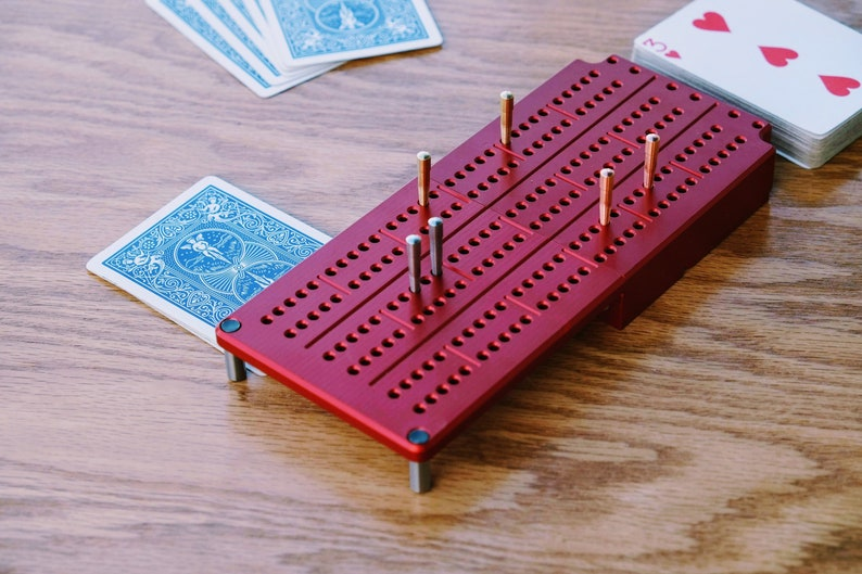 Travel Cribbage Board - Perfect game for Camping