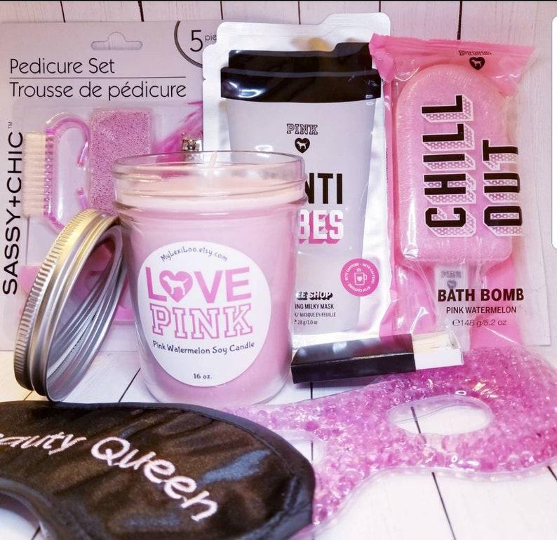 Victorias Secret Pink 7 Pc Gift Set 16oz Soy Candle