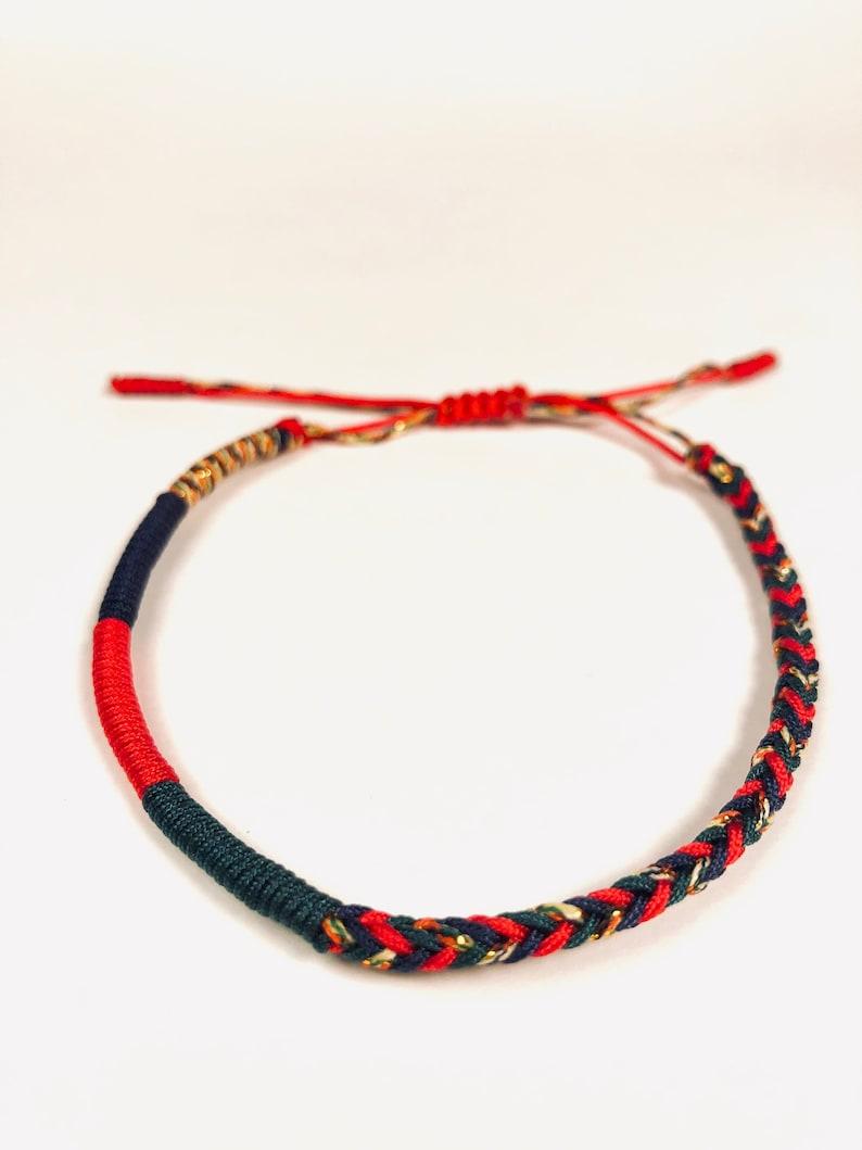 Tibetan Knot Bracelet (Colorful) - Transformation, Buddhist Bracelet, Hand  Made Knot Bracelet, Lucky Bracelets, Friendship Bracelets