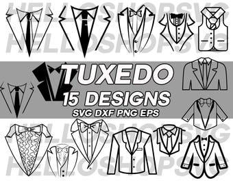 tuxedo svg, gentleman svg, tie svg, father's day svg, groom svg, business man svg, cuttable file. silhouette, clipart, dxf, iron on, decal