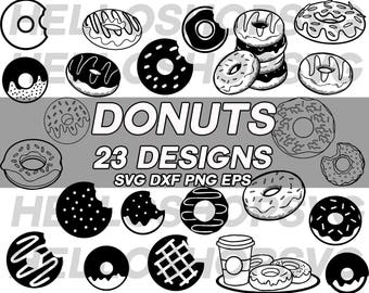 donut svg, teatime svg, high tea svg, baking svg, pastry svg, dessert svg, clipart, stencil, vinyl, cut file, silhouette, iron on