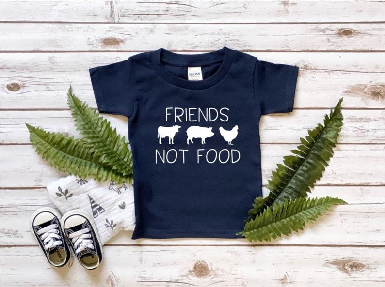 Friends Not Food Onesie\u00ae Toddler Tee or Youth Shirt Vegan Baby Bodysuit or Kids Shirt