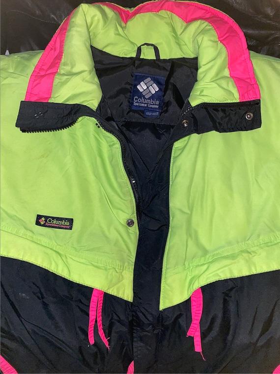 90s - Columbia Sportswear - Colourblock - Puffer … - image 4
