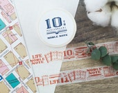 LIFE Noble Note Washi tape 10th Anniversary Limited Edition Vermilion