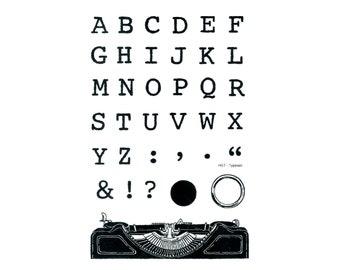 Typeset letters   Etsy