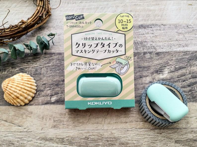 Kokuyo Karu Cut Washi Tape Cutter Pastel Green 10-15