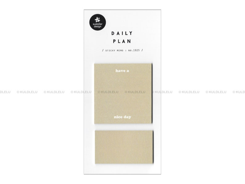 Suatelier Sticky Memo Daily Plan Have A Nice Day
