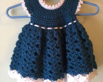 Baby Girl's Dress, 0-3 months, With Diaper Cover and Headband