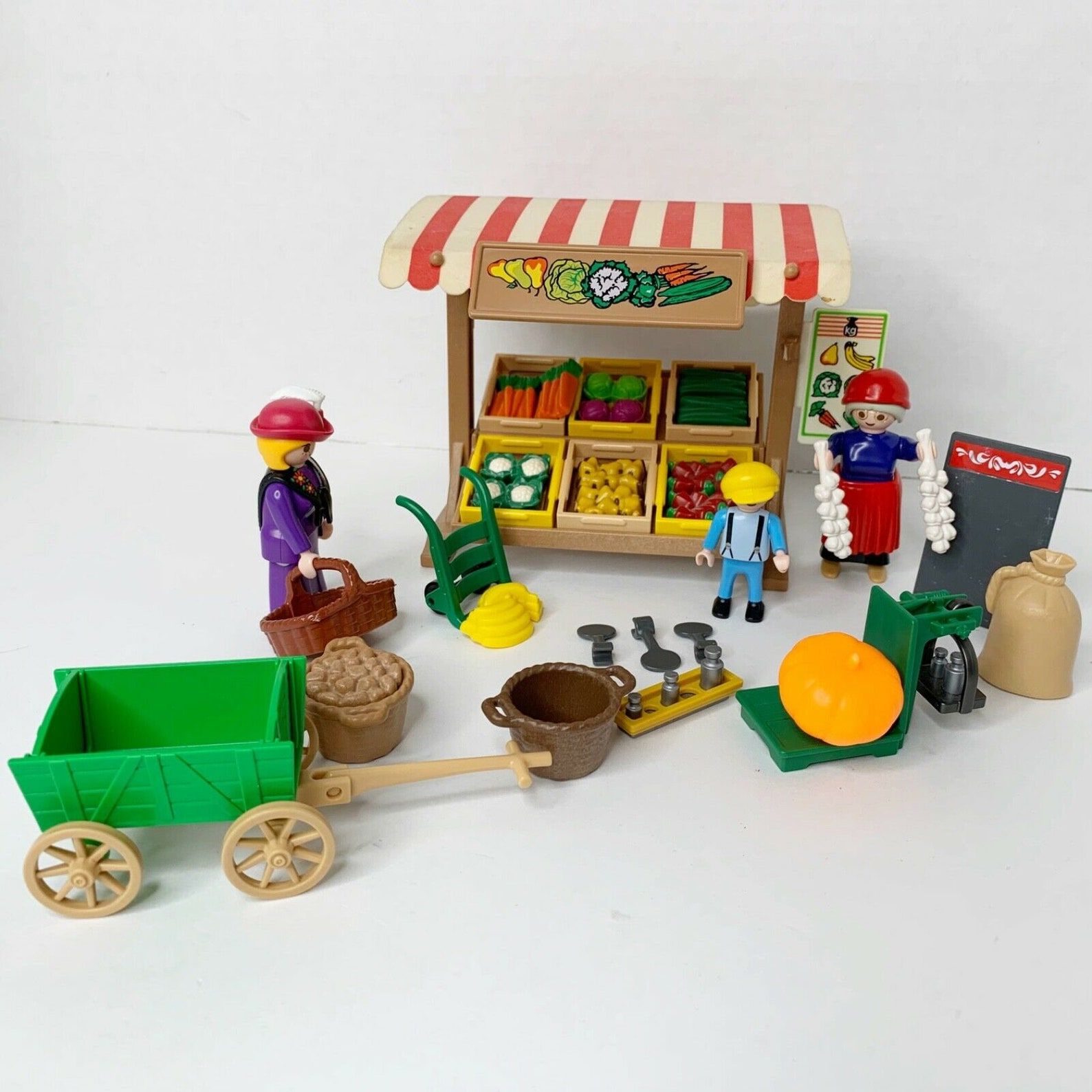 Playmobil PRODUCE MARKET STAND 5341 Vintage Complete!!!