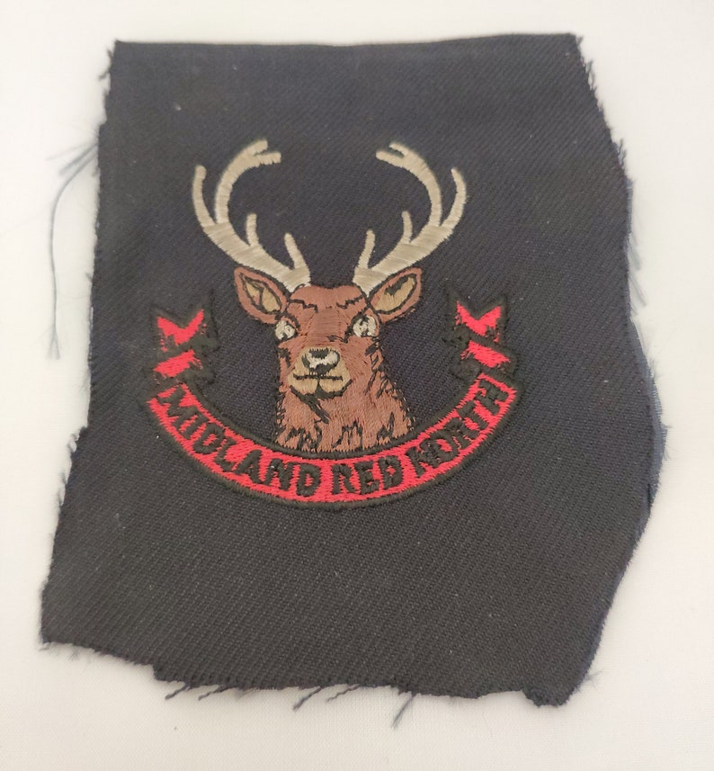 Vintage Midland Red North Buses Stag Logo Patch Collectable