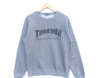 cf25025ac762 THRASHER / Thrasher Magazine gray Sweatshirts nice colour and nice design  in superb condition / Spellout.