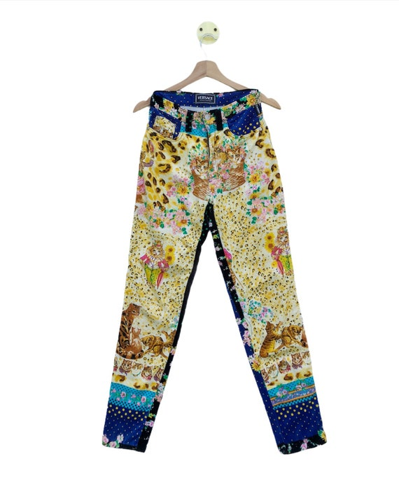 VINTAGE!!! 90s Versace Jeans Couture Italy Kitten… - image 1