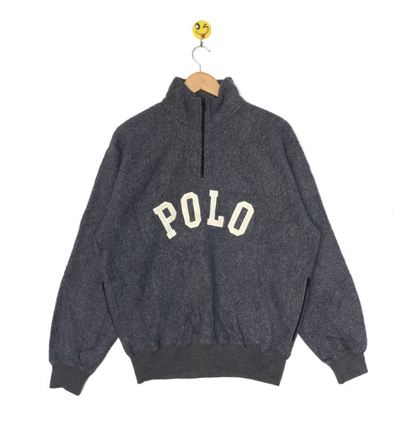 RARE!! Polo Sport Half Zip sweatshirts Fleece styl