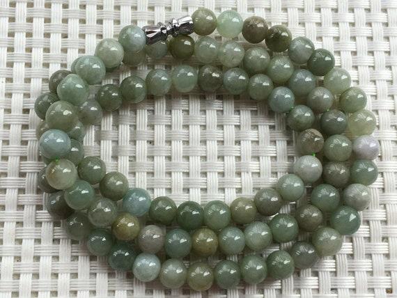 Light green 100/% Natural A JADE JADEITE Bead Beads Necklace  Jade Necklace
