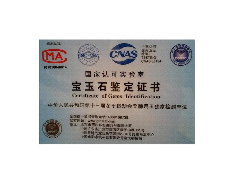 Certified  Light Green 100/% Natural A Jade jadeite Hand-Carved Sheep Ruyi Pendant 493