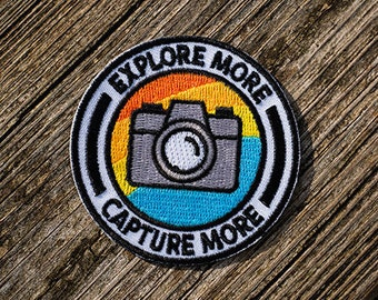 Photograph Picture Hobby  Embroidered Applique Badge Camera Iron On Patch