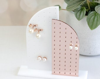 Two Tone Modern Earring Holder | Earring Stand | Tabletop Earring Stand | Earring Display | Earring Organizer | Jewelry Display