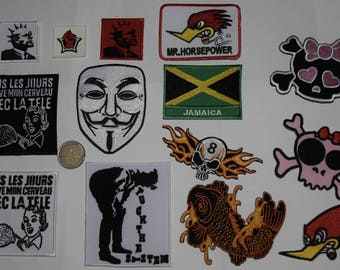 patch fusible anarchist revolution embroidered patch