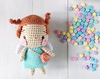 Aya the little guardian angel amigurumi crochet pattern by amigurumei